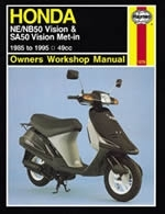 Reparaturanleitung Honda NE/NB50 Vision and SA50 Vision Met-in Scooter (85 - 95) Roller (VERSANDKOSTENFREI)