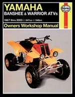 Reparaturanleitung Yamaha Banshee and Warrior ATV Quad (87 - 10) (VERSANDKOSTENFREI)