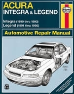 Reparaturanleitung Acura Integra and Legend (90 - 95)  (VERSANDKOSTENFREI)