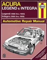 Reparaturanleitung Acura Integra and Legend (86 - 90)  (VERSANDKOSTENFREI)