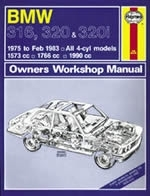 Reparaturanleitung BMW 316, 320 & 320i (4-cyl) (75 - Feb 83) up to Y  (VERSANDKOSTENFREI)