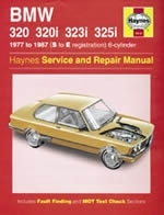 Reparaturanleitung BMW 320, 320i, 323i & 325i (6-cyl) (Oct 77 - Sept 87) up to E (VERSANDKOSTENFREI)
