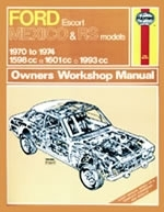 Reparaturanleitung Ford Escort Mk I Mexico, RS 1600 & RS 2000 (70 - 74) up to N (VERSANDKOSTENFREI)