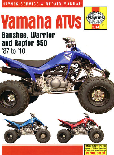 Reparaturanleitung Yamaha Banshee and Warrior ATV Quad (87 - 10)