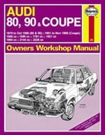 Reparaturanleitung Audi 80, 90 & Coupe Petrol (79 - Nov 88) up to F (VERSANDKOSTENFREI)