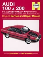 Reparaturanleitung Audi 100 & 200 Petrol (Oct 82 - 90) up to H (VERSANDKOSTENFREI)