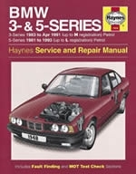 Reparaturanleitung BMW 3- & 5-Series Petrol (81 - 91) up to J (VERSANDKOSTENFREI)