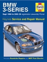 Reparaturanleitung BMW 3-Series Petrol (Sept 98 - 03) S-reg. onwards (VERSANDKOSTENFREI)