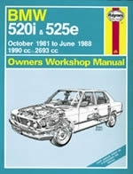 Reparaturanleitung BMW 520i & 525e (Oct 81 - June 88) up to E (VERSANDKOSTENFREI)