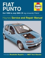 Reparaturanleitung Fiat Punto Petrol (Oct 99 - July 03) V-reg onwards (VERSANDKOSTENFREI)
