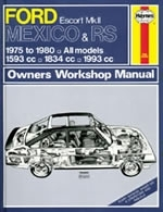 Reparaturanleitung Ford Escort Mk II Mexico, RS 1800 & RS 2000 (75 - 80) up to W (VERSANDKOSTENFREI)