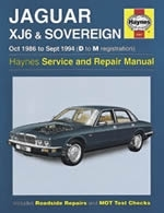 Reparaturanleitung Jaguar XJ6 & Sovereign (Oct 86 - Sept 94) D to M (VERSANDKOSTENFREI)