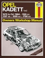 Reparaturanleitung Opel Kadett Petrol (Nov 79 - Oct 84) up to B (VERSANDKOSTENFREI)