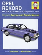 Reparaturanleitung Opel Rekord Petrol (Feb 78 - Oct 86) up to D (VERSANDKOSTENFREI)