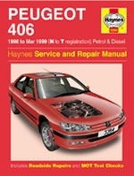 Reparaturanleitung Peugeot 406 Petrol & Diesel (96 - Mar 99) + Lexikon English - Deutsch