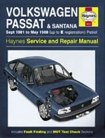 Reparaturanleitung VW Passat & Santana Petrol (Sept 81 - May 88) up to E (VERSANDKOSTENFREI)